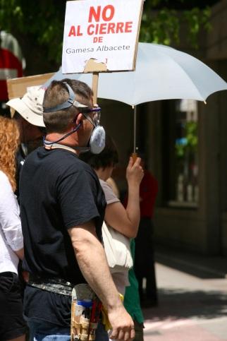 Manifestación en Albacete por una Europa más social