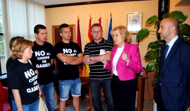 Gamesa, reunión, Bayod, alcaldesa, trabajadores, Albacete